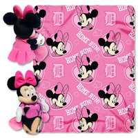 Detroit Tigers MLB Minnie Mouse with Throw Combo