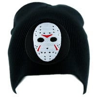 Hockey Mask Friday the 13th Beanie Horror Clothing Knit Cap Jason Voorhees