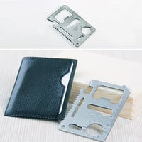 Portable Pocket Tools Card  11 in 1 Multitool Camping Knife