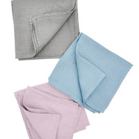 Stone Washed Linen Napkin Set