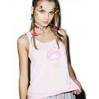 MY MELODY ICE CREAM SWEETIE BOW BACK TANK