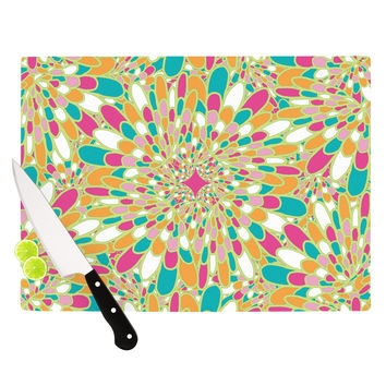 "Miranda Mol ""Flourishing Green"" Green Multicolor Cutting Board"