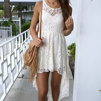 Floral Days High Low Dress - Ivory
