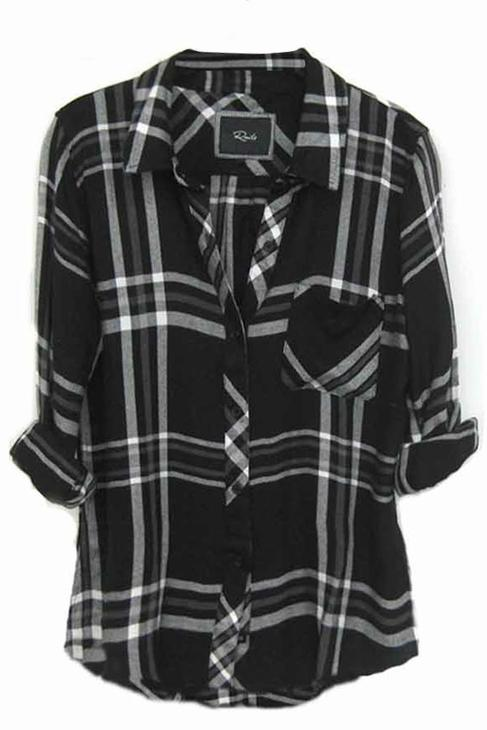 Rails hunter plaid shirt in from shop the trend boutique for Black and white checker shirt