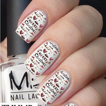Breezy Christmas nail decal
