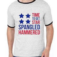 4th of July Shirt - Time To Get Star Spangled Hammered| Men T shirt | Men Tees
