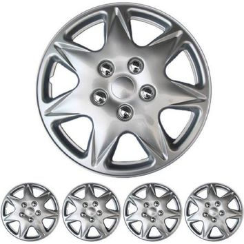 "BDK Hubcaps 17"" Wheel Protection, Total 4 Pieces (2 front 2 rear)"