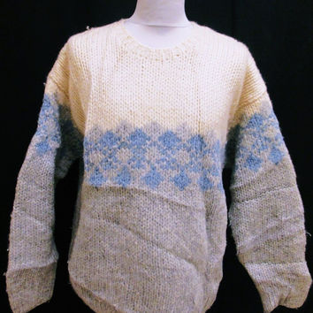 Retro Abercrombie & Fitch Winter Jumper Sweater Large