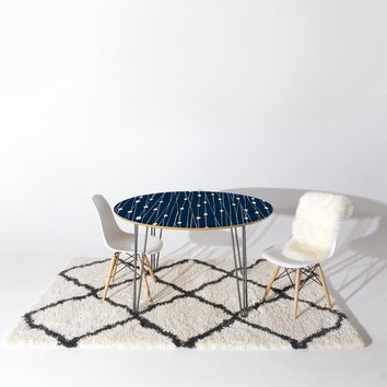 Heather Dutton Navy Entangled Round Table