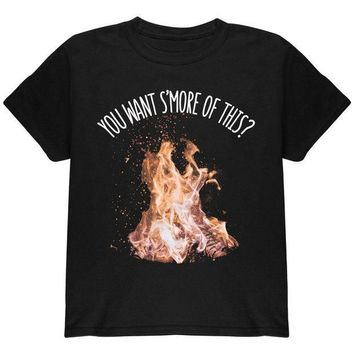 ESBGQ9 Autumn You Want S'more of This Bonfire Pun Youth T Shirt