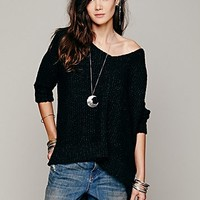 Free People Womens Chunky Oversized Pullover