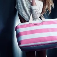 Victorias Secret Duffle Beach Weekender Tote Bag Getaway 2013 Limited Edition