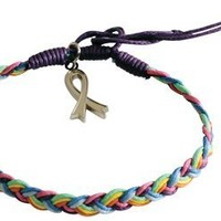 CureAll - Multi-Color Awareness Braided Charm Bracelet - -:Amazon:Industrial & Scientific