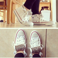 Studded Hi-Top Converse