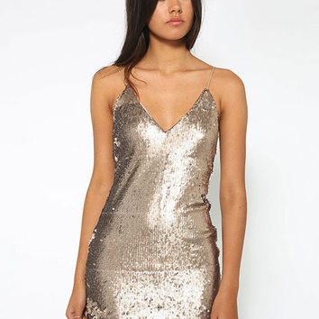 Sequin Spaghetti Strap Dress