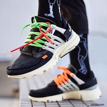 NIKE Air Presto x OFF-WHITE Tide Brand Casual Sports Running Shoes F