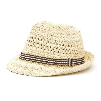 Fashion Handwork Women Summer straw Sun hat Boho Beach Fedora hat Sunhat Trilby Men Panama Hat Gangster Cap Good Pack 25