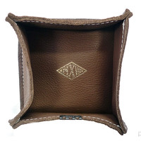 Purist — Leather Valet Tray - Brown