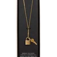 The Giving Keys 'Love' 27-Inch Lock & Key Lariat Necklace | Nordstrom
