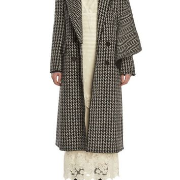 Burberry Houndstooth Wool Coat | Nordstrom