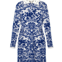 Valentino Ceramic Print Dress - Long Sleeve Mini Dress - ShopBAZAAR