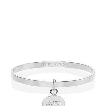 Kate Spade Say Yes Scalloped Partners In Crime Bangle Silver ONE