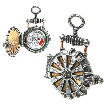EER Patent Solar Powered Turbine Fob Watch - New Age, Spiritual Gifts, Yoga, Wicca, Gothic, Reiki, Celtic, Crystal, Tarot at Pyramid Collection