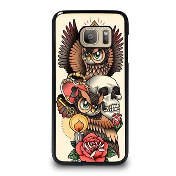 OWL STEAMPUNK ILLUMINATI TATTOO Samsung Galaxy S7 Case Cover
