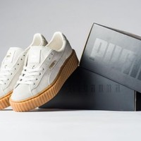 Puma X Rihanna Suede Creeper Fenty Beige White Gum 361005 06 Women Sizes