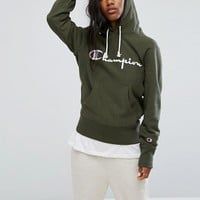 Champion Pull Over Hoodie With Front Logo at asos.com