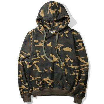 DCCKUNT Trendy Kanye Camouflage Unisex Sweater Pullover Sweater Hoodies