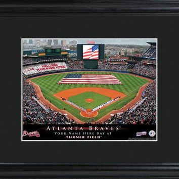 Personalized MLB Stadium Print - Braves
