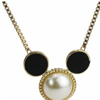 Mickey Mouse With The White Beads Necklace | CozBest:lastest womens fashion clothing,shoes,dresses shop online