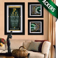Green Bay Packers - 3 pt. Field Goal Combo - Eye Chart & Neon Prints