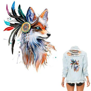 Colife Patches For Clothing Colorful Fox Patch T-shirt Dresses Sweater DIY Accessory Decoration A-level Washable Appliqued