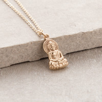 Delicate Lotus Buddha Necklace