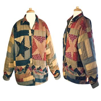 Women's Coat, Embroidered Coat, Quilt Jacket, Patchwork Coat, Blanket Coat, Bohemian
