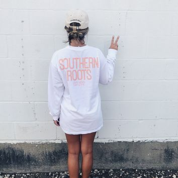 SR Custom Long Sleeve Tee - White