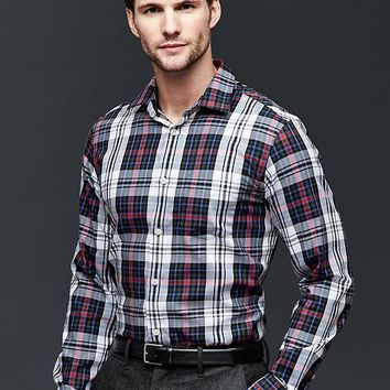 Gap Men Wrinkle Resistant Leroy Plaid Shirt