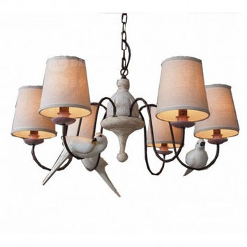 3 bird 6 light countryside vintage chandeliers for dinning room coffee bar