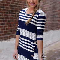 Tweet Me Top - Navy