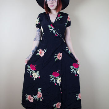 Floral To Ceiling Vintage Dress
