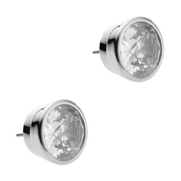 Crystal Stud Earrings, Clear - Michael Kors - Silver (ONE SIZE)