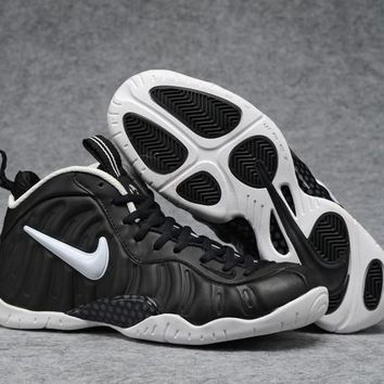 Air Foamposite Pro Black/White Basketball Shoe Size 40--47