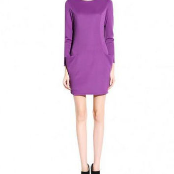 Slim Fit Long Sleeves Dress