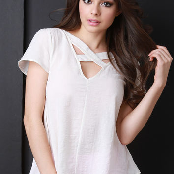 Crisscross Strap Design Top