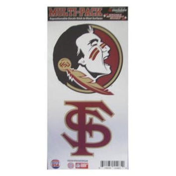 ONETOW NCAA Florida State Seminoles Stockdale Multi-Pack Repostionable Decals