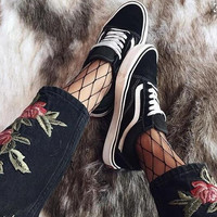 Vans Old School Classics Casual Canvas Flats Sneakers Sport Shoes Black