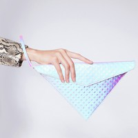 Hologram triangle clutch - Shop the latest Fashion Trends