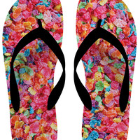 Fruity Pebbles Flip Flops